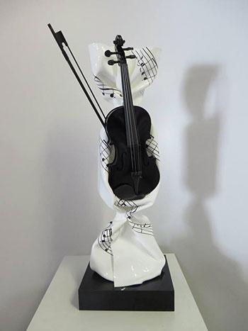 Laurence Jenkell sculpture Bonbon La petite musique de Jenkell